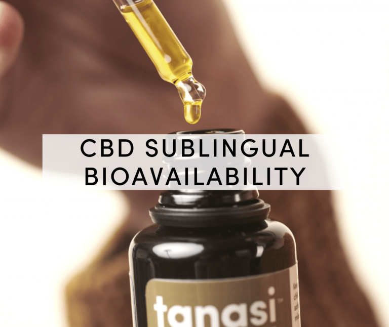 cbd sublingual bioavailability