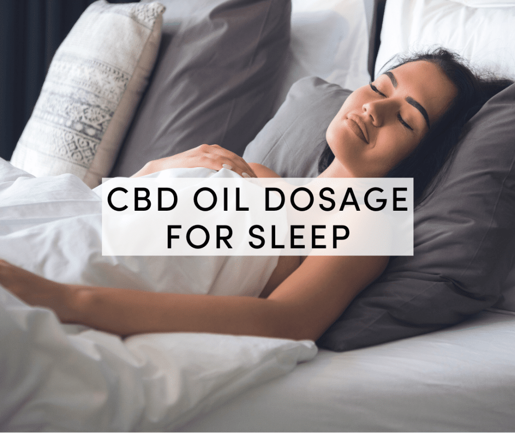 cbd oil dosage for sleep